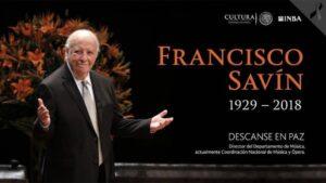 Maestro Francisco Savín !