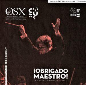 """Lanfranco en el adiós de la O.S.X.: i una noche inolvidable ! i """"Obrigado maestro"""" !"""